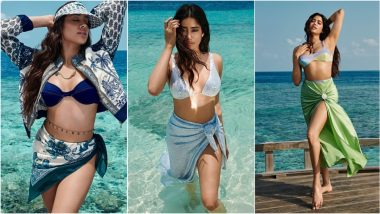 Janhvi Kapoor Sets Pulses Racing As She Flaunts Her Toned Physique in Sexy Bikinis for Glamorous Magazine Photoshoot (View Pics & Video)