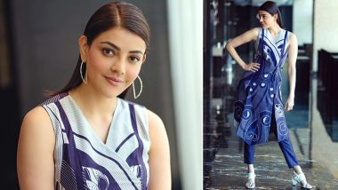 Kajal Aggarwal's Feeling all the 'Blues' and the Right Ones That Too (View Pics)