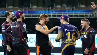 Jonny Bairstow Interacts With KKR Players After SRH Loses by 10 Runs In IPL 2021