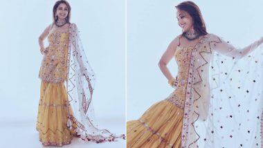 Yo or Hell No? Madhuri Dixit Nene's Yellow Sharara By Tamanna Punjabi Kapoor