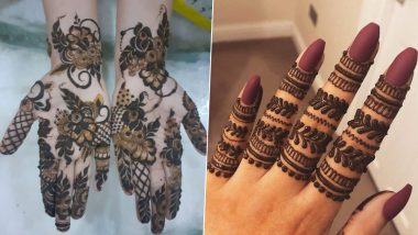 Navratri 2021 Simple Mehndi Design Images: From Arabic to Rajasthani, Last-Minute Back and Front Hand Henna Patterns to Go with Your Traditional Look This Festive Season (Watch Tutorial Videos)
