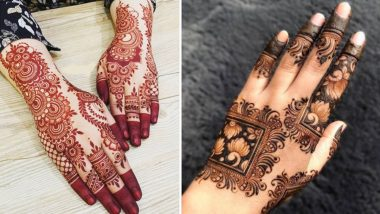 Eid al-Fitr 2021 Quick Mehendi Designs: Latest Arabic, Rajasthani, Full-Hand, Back-Hand and Finger Mehndi Patterns You Can Try To End The Holy Ramzan Month