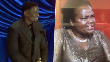 Oscars 2021: Daniel Kaluuya Thanks His Parents for Having Sex in His Acceptance Speech, Actor's Mother Reaction Goes Viral (Watch Video)