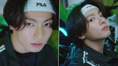 Jeon Jungkook for Filla: K-Pop BTS Star Goes Viral on Twitter for His Wink and Smile as ARMY Finds It Difficult to Keep Calm! (Watch Video)