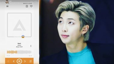 BTS' RM Teases Fans with Screenshot of His Upcoming Number 'Don't' in Collaboration With Lee Eon aka eAeon! K-Pop ARMY Takes over Twitter