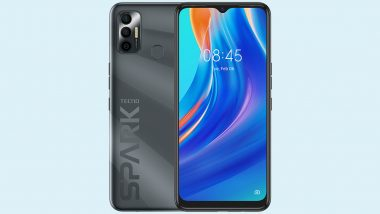 Tecno Spark 7 With Dual Rear Cameras & MediaTek Helio A20 SoC Launched in India, First Online Sale on April 16, 2021