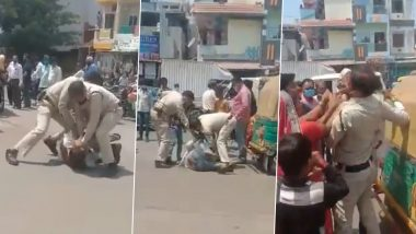 Madhya Pradesh: Video of Indore Cops Beating A Man in Front of His Minor Son Goes Viral, Police Issues Statement