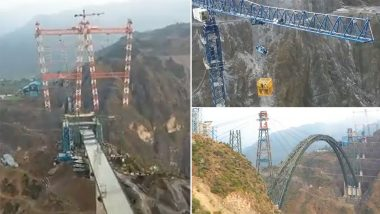 Arch of Chenab, World's Highest Railway Bridge in Jammu and Kashmir, Completed (Video)