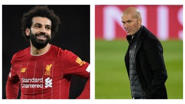 Zinedine Zidane Breaks His Silence Over Real Madrid's Interest in Liverpool Striker Mohamed Salah Ahead Of UCL 2020-21 Match
