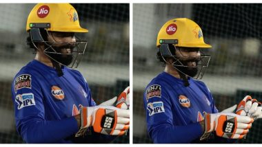Chennai Super Kings Fires Warning at Opponents as Ravindra Jadeja Sweats it Out in the Nets Ahead of IPL 2021 (See Pic)