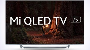 Mi QLED TV 75 With Quad-Core A55 Processor Launched in India at Rs 1,19,999