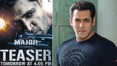 Major: Salman Khan Shares Hindi Teaser of Martyr Sandeep Unnikrishnan's Biopic (Watch Video)