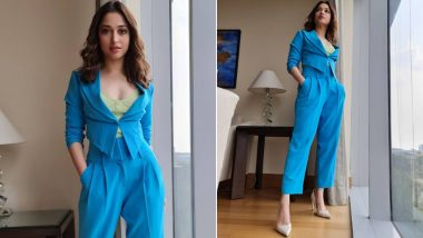 Tamannaah Makes a Powerful Statement in Her Semi-Formal Pantsuit (View Pics)