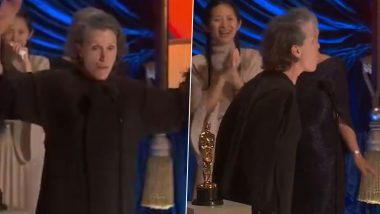 Oscars 2021: Nomadland's Frances McDormand Howls in Tribute to Late Crew Member While Accepting the Academy Award for Best Motion Picture
