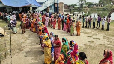 West Bengal Assembly Elections 2021 Phase 5: Voter Turnout of 78.36% Recorded in Fifth Phase, Jalpaiguri Registers Highest Voting Percentage of 81.73%