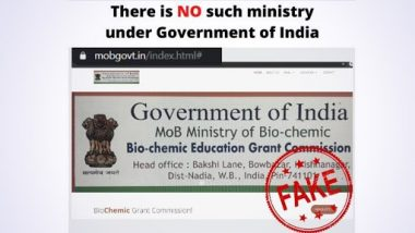 Fake Website of BioChemic Grant Commission, Claiming To Be Working Under Govt, Invites Applications for Various Posts; PIB Fact Check Reveals Truth Behind Fake Post