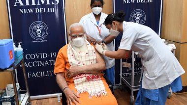 PM Narendra Modi Receives Second Dose of COVID-19 Vaccine at AIIMS in Delhi