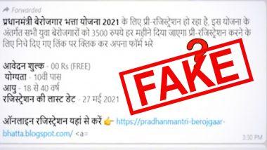Govt Providing Monthly Allowances to Unemployed People Under Pradhan Mantri Berojgaar Bhatta Yojana? PIB Fact Check Debunks Fake Social Media Post
