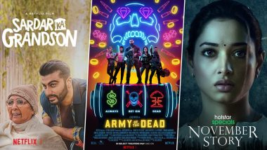 OTT Releases of the Week: Arjun Kapoor's Sardar Ka Grandson and Zack Snyder's Army of the Dead on Netflix, Tamannaah Bhatia's November Story on Disney+ Hotstar and More