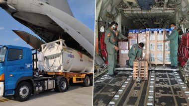 IAF's IL-76 Airlifts Oxygen Containers From Jakarta Amid COVID-19 Surge in India