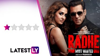 Radhe Movie Review: Salman Khan and Disha Patani's Tone-Deaf Remake of The Outlaws Is Terribly Dated! (LatestLY Exclusive)