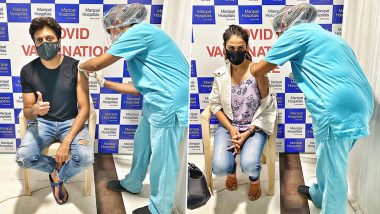 Riteish Deshmukh and Wife Genelia D'Souza Get the First Dose of COVID-19 Vaccine