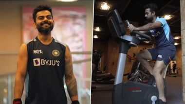 Team India Sweat It Out In The Gym Ahead Of ICC WTC 2021 Final Against New Zealand (Watch Video)