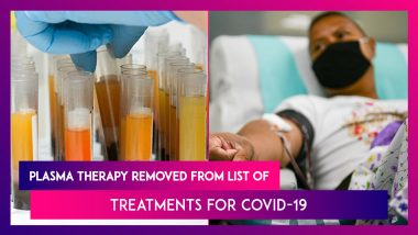 COVID-19 Pandemic: Plasma Therapy Dropped As Treatment By Government Panel