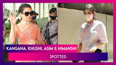 Kangana Ranaut Leaves For Manali After Recovering From Covid-19; Khushi Kapoor, Asim Riaz & Girlfriend Himanshi Khurana Spotted In The City