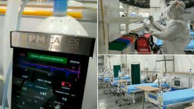 Delhi: 150 GPS Based Ventilator Beds From PM CARES Fund Established at Sardar Patel COVID-19 Care Centre Start Functioning (Video)