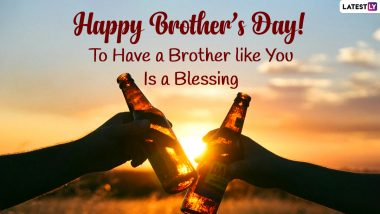National Brother's Day 2021 Quotes & HD Images: WhatsApp Messages, Greetings, Instagram Captions, Photos and Wallpapers for the Loving Brothers