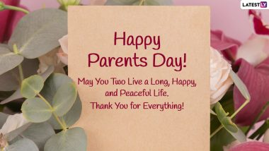 Happy Global Day of Parents 2021 Greetings & HD Images: WhatsApp Sticker Messages, Telegram Quotes, Signal Photos and Facebook GIFs To Send on June 1
