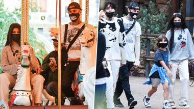 Kourtney Kardashian and Travis Barker Enjoy Family Time at Disneyland (View Pics)