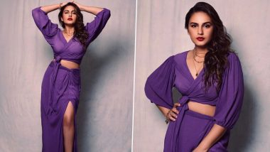 Huma Qureshi Picks a Sexy Purple Dress For The E-Promotions of Army Of The Dead (View Pics)