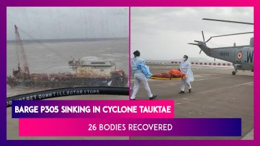Barge P305 Sinking In Cyclone Tauktae: 26 Bodies Recovered, Navy Ops Continue Search For Survivors