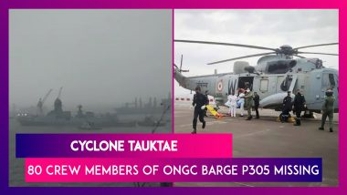 Cyclone Tauktae: Rescue Efforts Continue For 80 Crew Members Of ONGC Barge P305