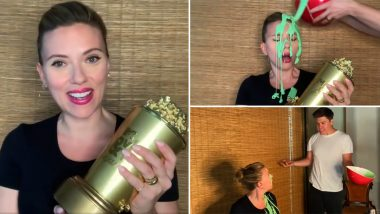 MTV Movie And TV Awards 2021: Scarlett Johansson Gets Slimed by Husband Colin Jost During Her Acceptance Speech (Watch Video)