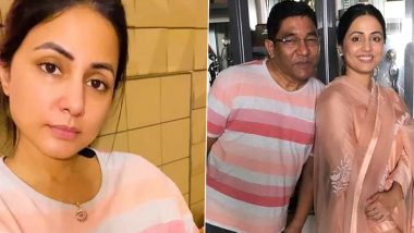 Hina Khan Wears Her Late Father's T-shirt During Her Recent Live Session, Opens Up About Being Careless About the COVID Situation