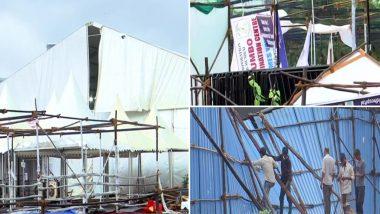 Cyclone Tauktae Impact: Mumbai's Bandra Kurla Complex COVID-19 Care Centre Hit by Heavy Rains & Winds (See Pics)