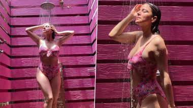 Shraddha Arya Oozes Oomph in a Sexy Pink Floral Monokini, Leaves Fans Drooling Over Her Latest Hot Picture