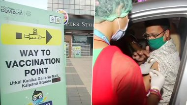 COVID-19 Vaccination in Odisha: Bhubaneswar Municipal Corporation Launches 3 More Drive-In Vaccination Centres for People Above 45 Years of Age