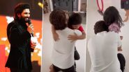 Allu Arjun Hugs His Kids Tightly As He Meets Them After 15 Days of Quarantine (Watch Video)
