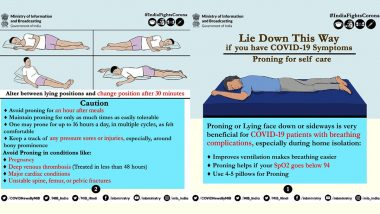 Proning as Self-Care for COVID-19 Symptoms: PIB Suggests Proning for Easier Breathing and Oxygenation; Here Are the Dos and Don'ts to Keep in Mind