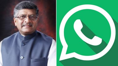 WhatsApp Users Have Nothing To Fear About New IT Rules, Says Union Minister Ravi Shankar Prasad