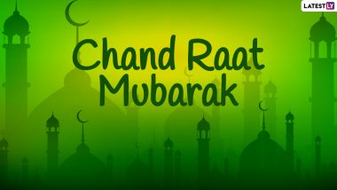 Chand Raat Mubarak 2021 Greetings and Happy Eid WhatsApp Stickers: Eid al-Fitr Mubarak Facebook Messages, Signal HD Images, Telegram Messages to Send on Shawwal Moon Night
