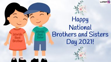 Happy National Brothers and Sisters Day 2021 Wishes & Greetings: Send HD Images, Funny Posts, Quotes, Messages, WhatsApp Stickers & GIFs to Celebrate Your Siblings