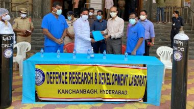 DRDO Hands Over 50 Oxygen Cylinders to Gandhi Hospital in Secunderabad in Presence of Union Minister Kishan Reddy