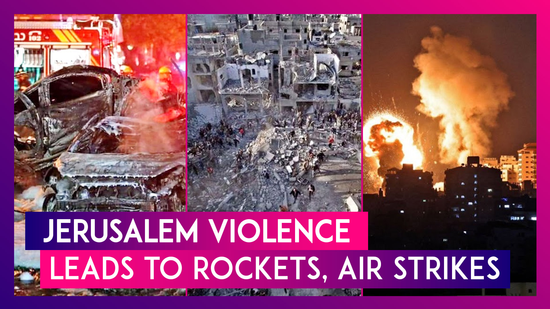 Jerusalem Protests Escalate Into Rocket Strikes & Bombings Between Israel & Hamas Across Gaza Strip