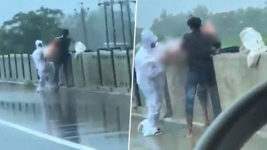 Uttar Pradesh Shocker: COVID-19 Patient's Body Thrown In Rapti River in Balrampur District; Relatives Booked After Video Goes Viral, Two Arrested