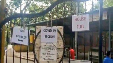 Bengaluru's Chamrajpet Crematorium Displays 'Housefull' Board Due to Surge in COVID-19 Deaths